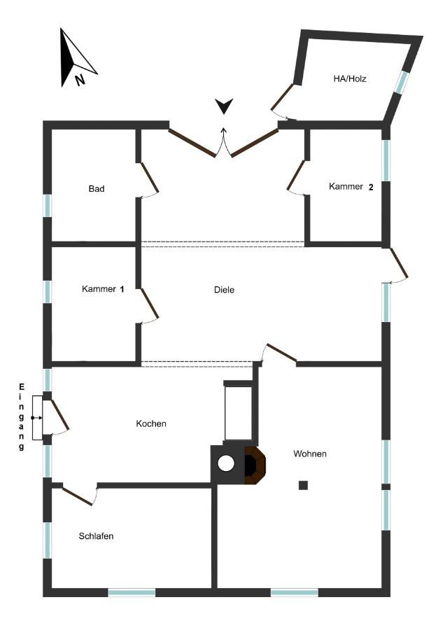 Grundriss Reetdachhaus